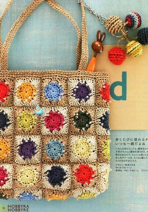 Вязание крючком: сумка | сумки | Pinterest | Cartera crochet, Bolsos ...