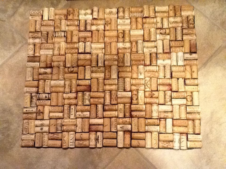 This Is A Bath Mat I Made Of Wine Corks It Is Very Durable And