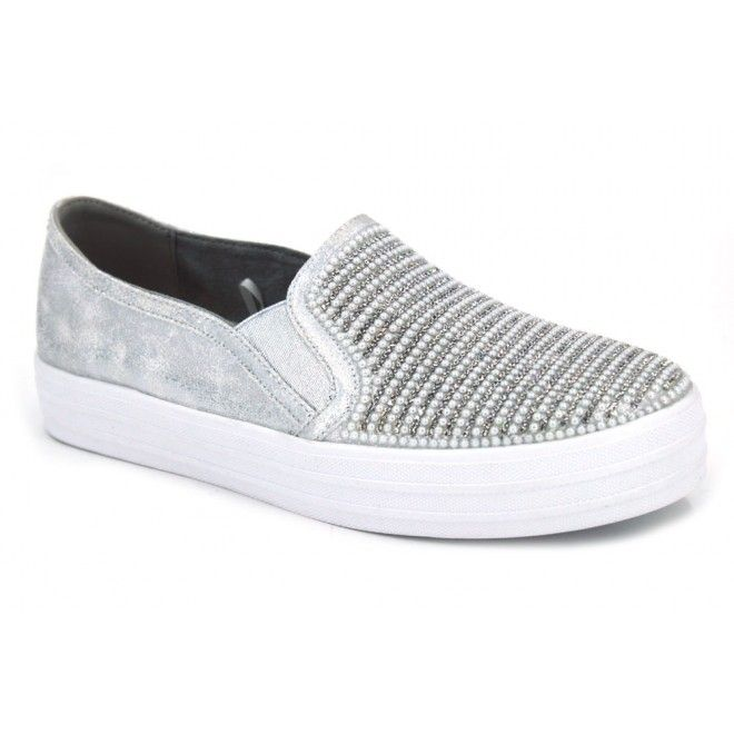 Skechers Double Up Shiny Dancer 801 Zapatillas deportivas de estilo bambas  para mujer hechas con materiales