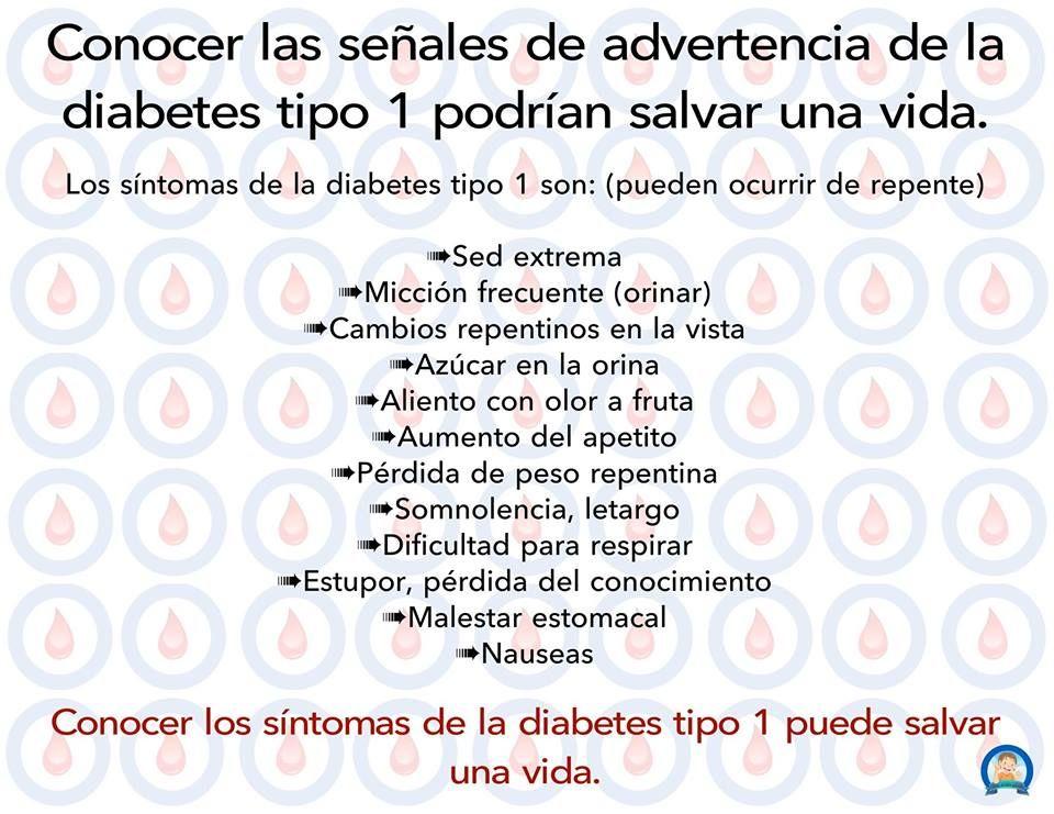 sintomas de la diabetes tipo 1