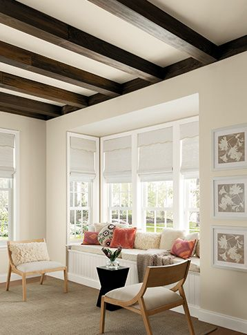 Where High Ceilings Or Large Windows Are Prevalent Brighter Whites Best Suited This Living Room Features Milk Paint And Delicate White From Pittsburgh