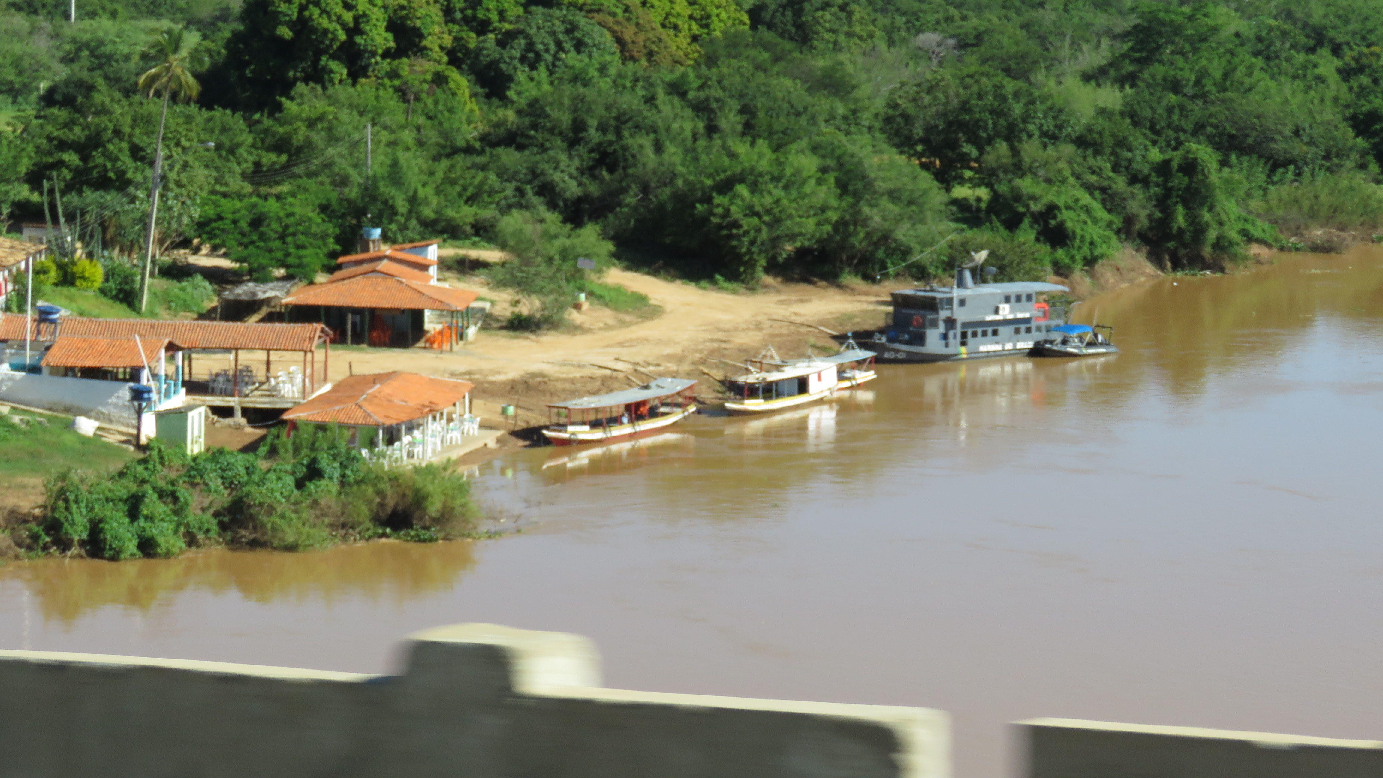 Ponte Sobre O Rio Sao Francisco Bom Jesus Da Lapa Bahia Brasil