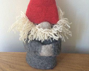 Vintage Scandinavian Style Wool Felt Santa Claus/Tree Topper/Decor - Edit Listing - Etsy