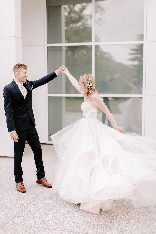 Wedding dress details boho bride two piece wedding gown