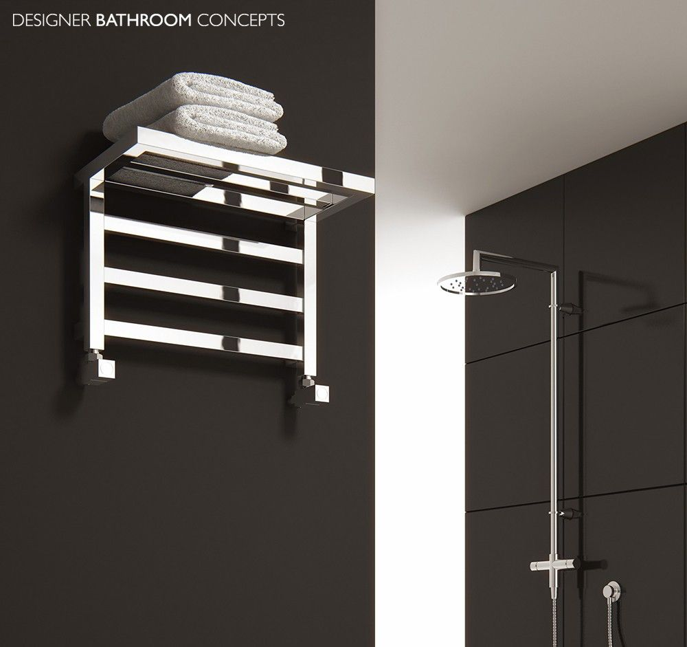 Heated Towel Rail Vertical: Elvina Designer Bathroom Heated Towel Rails From