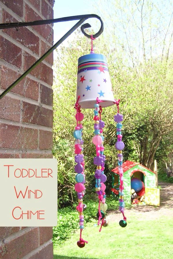 Toddler Wind Chime Wind Chimes Craft Crafts Toddler Crafts