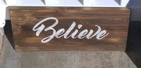 Believe Signs Decor Rustic Wood Signs Believe Sign Country Decorkreativejourney  #1