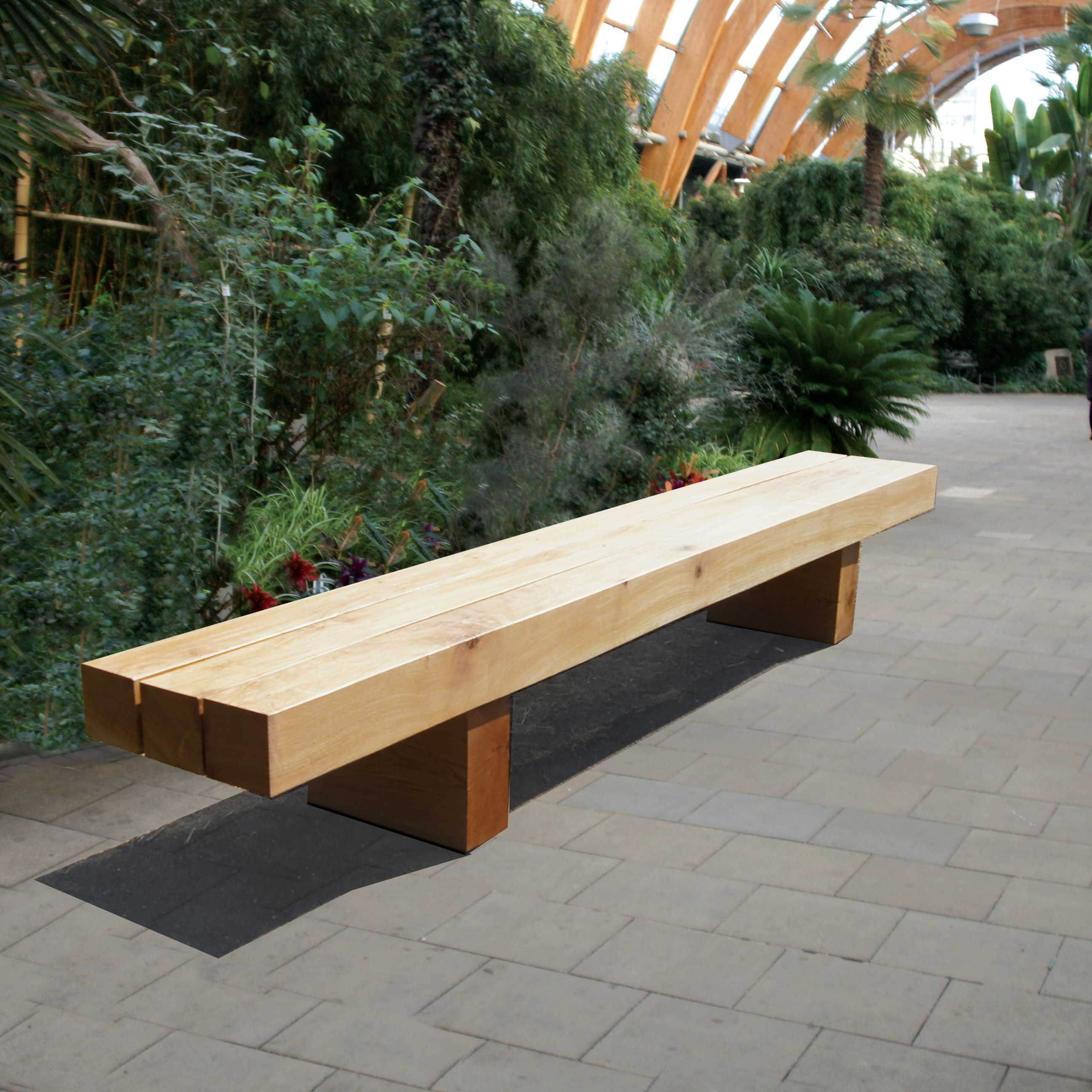 This Rustic Green Oak Bench Offers A Strong And Low