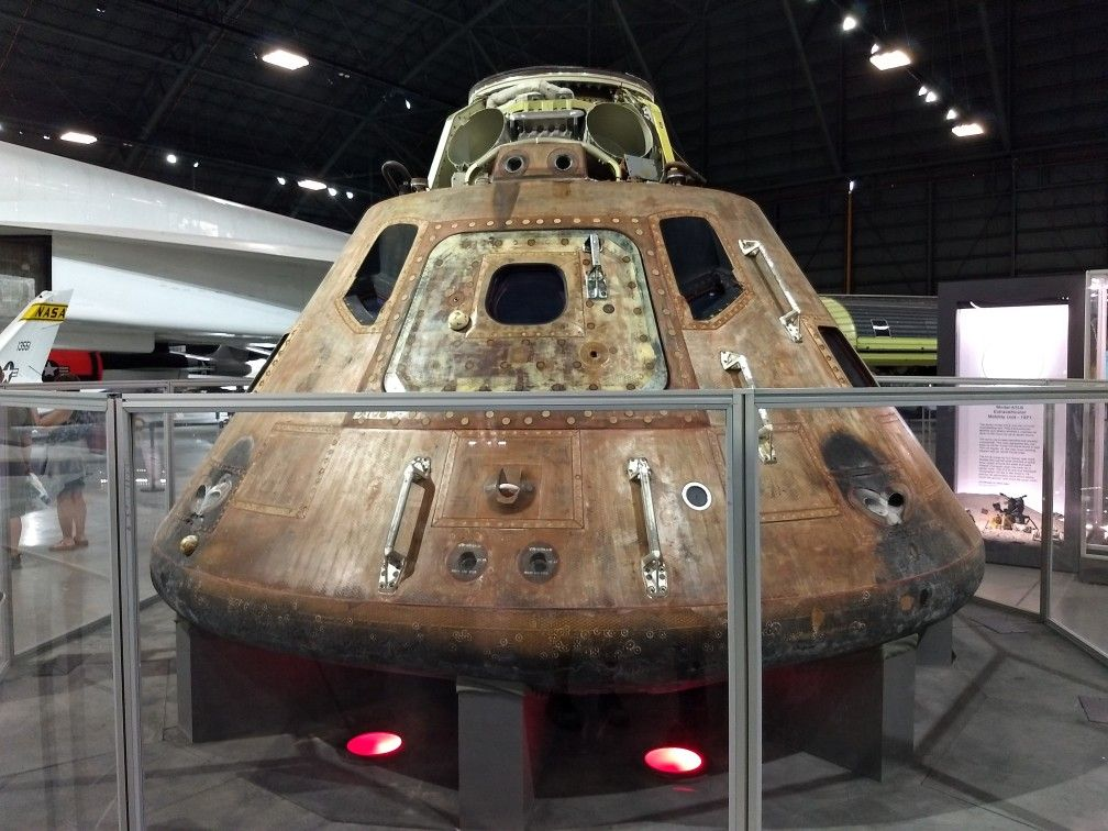 """Apollo 15 Command Module """"Endeavor"""" at the National Museum"""
