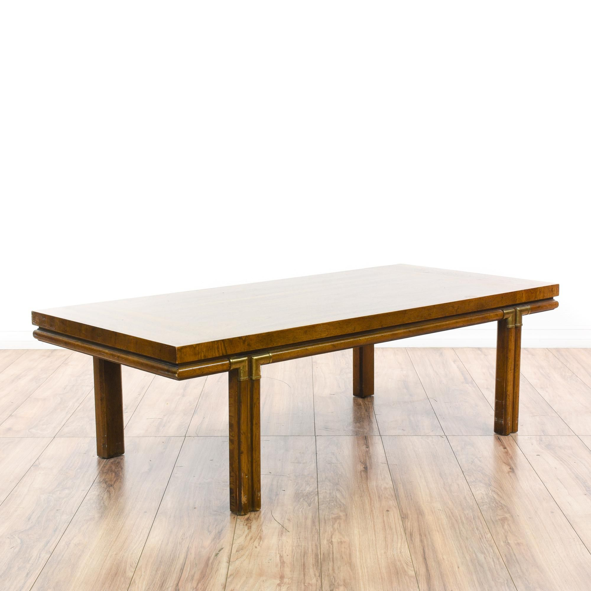 """This """"Drexel Heritage Accolade"""" coffee table is featured in a solid"""