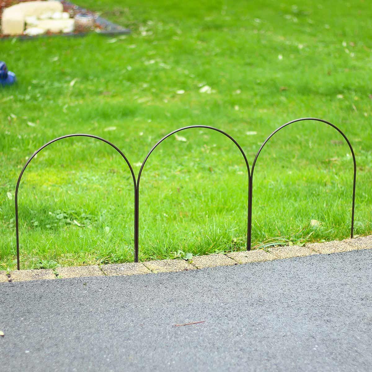 Bordure Triple Arceaux En Acier Plein L 100cm X H 40cm Bordure Jardin Bordure Massif Fleurs