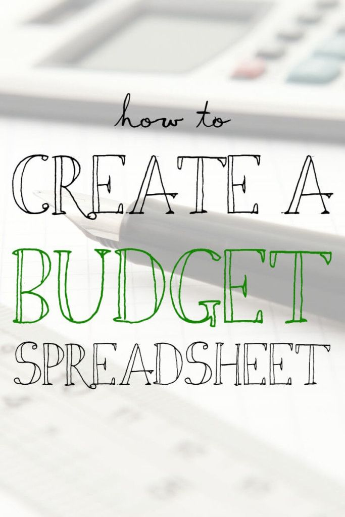 Making a budget is a great idea The biggest help in creating a