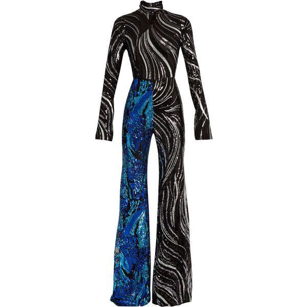 e394249d656 Halpern Sequin-embellished flared jumpsuit ( 2