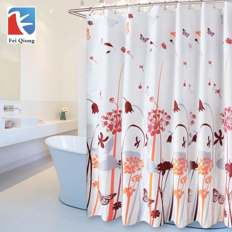 Feiqiong Marke 1,8*1,8 mt Wasserdicht Duschvorhang 100 Polyester - vorhänge für badezimmer