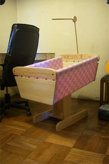 DIY bedside crib