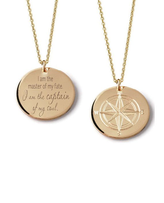 Compass Rose custom engraved round by CherishedSentiments