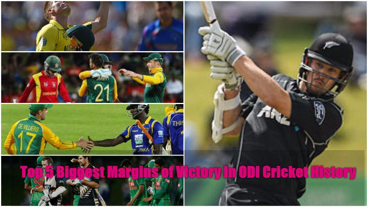 Top 5 Biggest Margins of Victory In ODI Cricket History ...