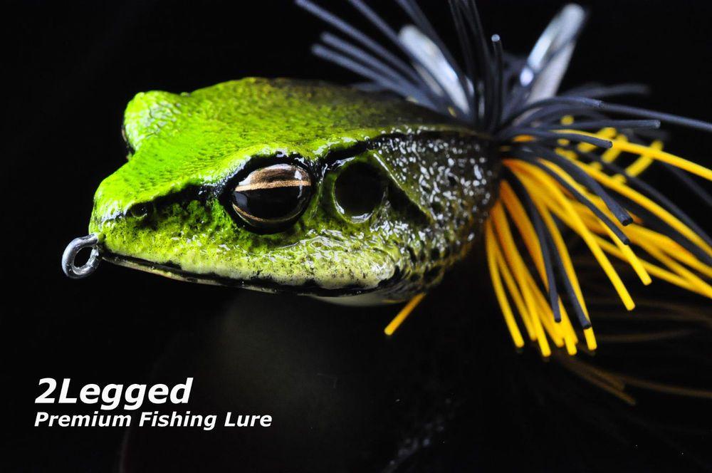 Premium Bass Pike Fishing Lure Handmade Topwater Decoy Resin Frogs