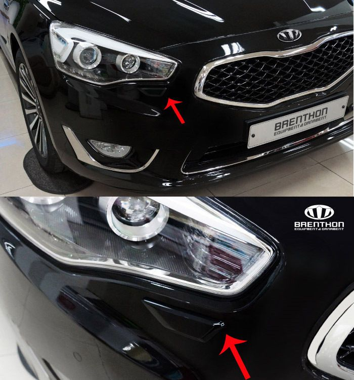 BRENTHON Car Bumper Detail Tip Black White Chrome BAK-A38 for KIA K7 & Cadenza #Brenthon #Detailkorea #Car #Car_Emblem #Emblem #Bumper_Detail_Tip #Chrome #KIA #K7 #Cadenza