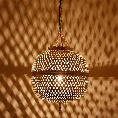 Moroccan Bazaar Brass Pendant Moroccan Ceiling Light Ceiling Lights Silver Pendant Lamp