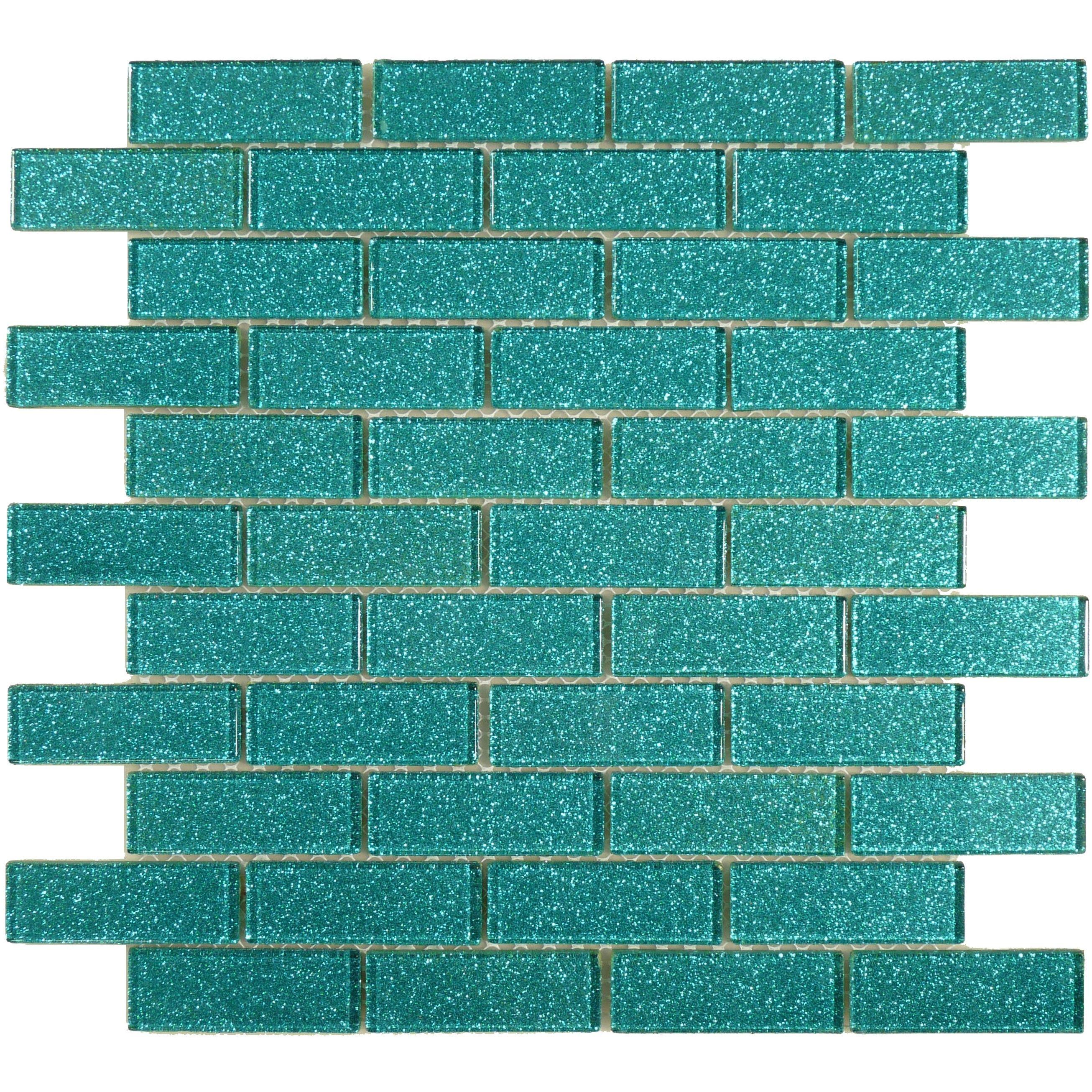 1 X 3 Aqua Glass Uniform Brick Tile Glossy Blgd303a Aqua Glass Aqua Glass Tiles Aqua Tiles