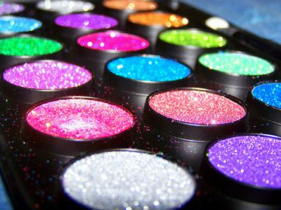 glitter makeup...loose glitter is great because you can go as crazy as you want!