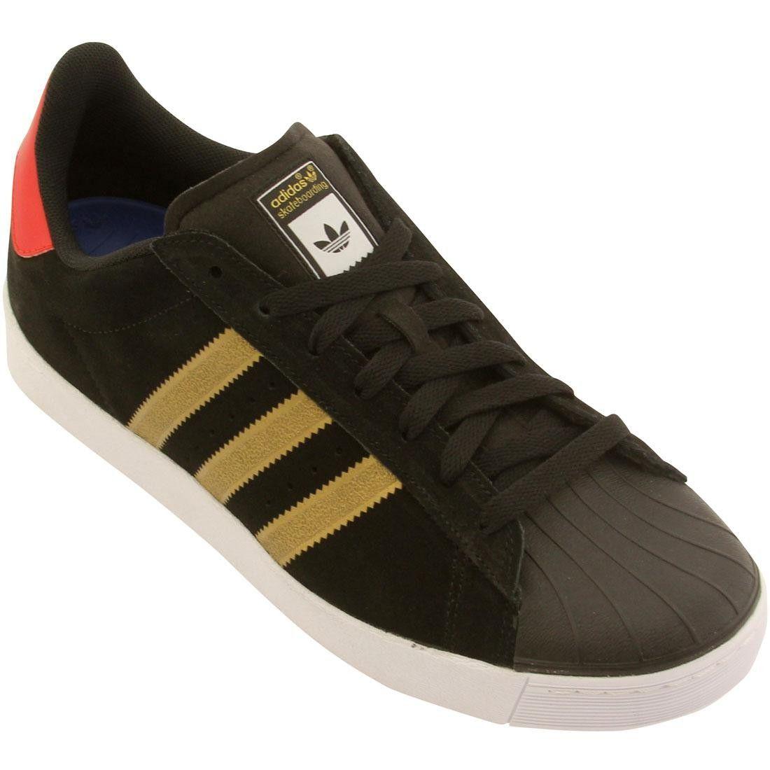 9abb110b89ef Adidas Men Superstar Vulc Adv (black   gold   red)
