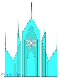 Image Result For Frozen Castle Template Frozen Castle Frozen Cake Frozen Castle Cake