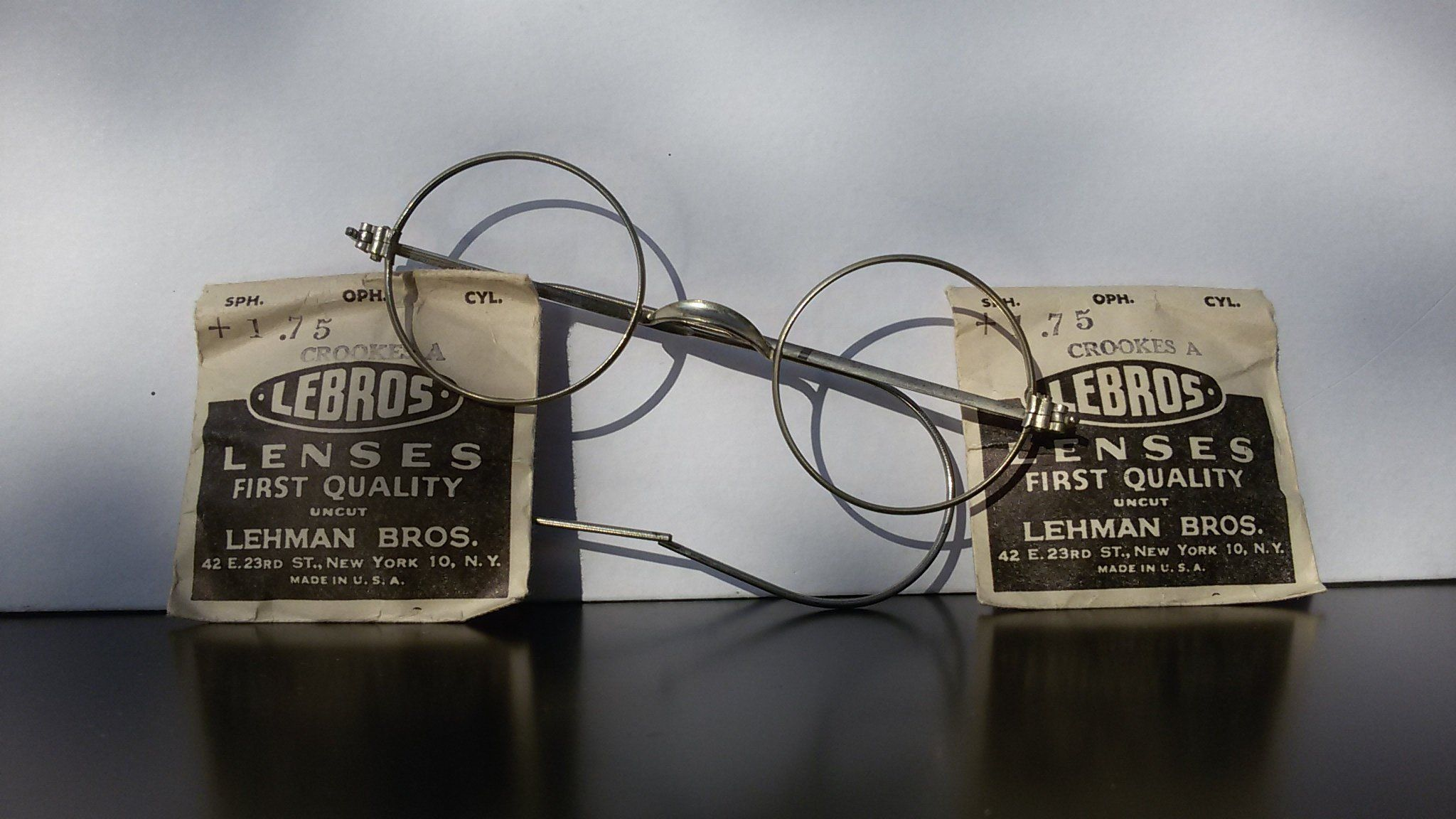 419bcc87ff Round eyeglasses   antique eyewear   Lennon style   silver   flexible  temples   vintage 1950s eyewear   NOS