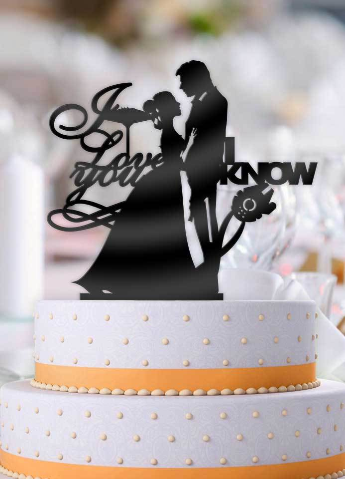Star Wars Han And Leia I Love You I Know Pt 1 Cake Topper