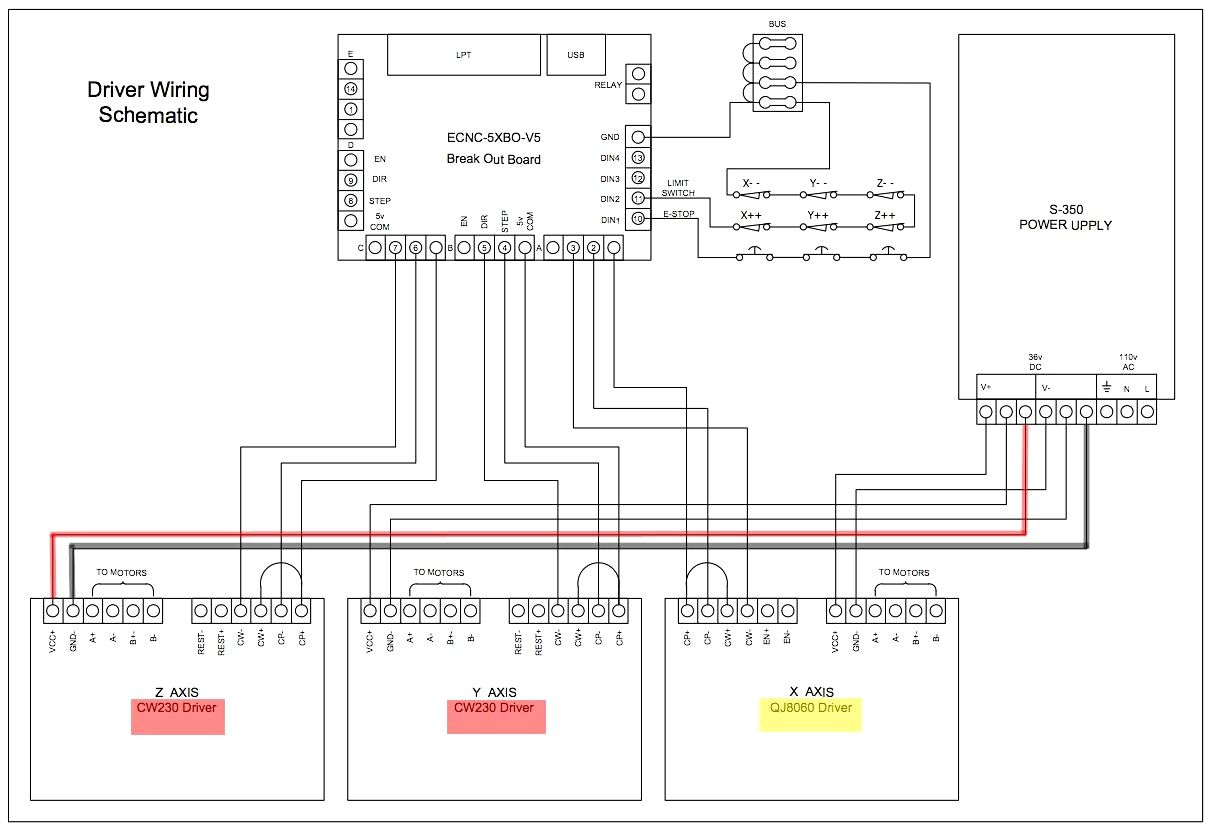 Cnc Breakout Board Wiring Diagram Breakout Board Diagram Cnc