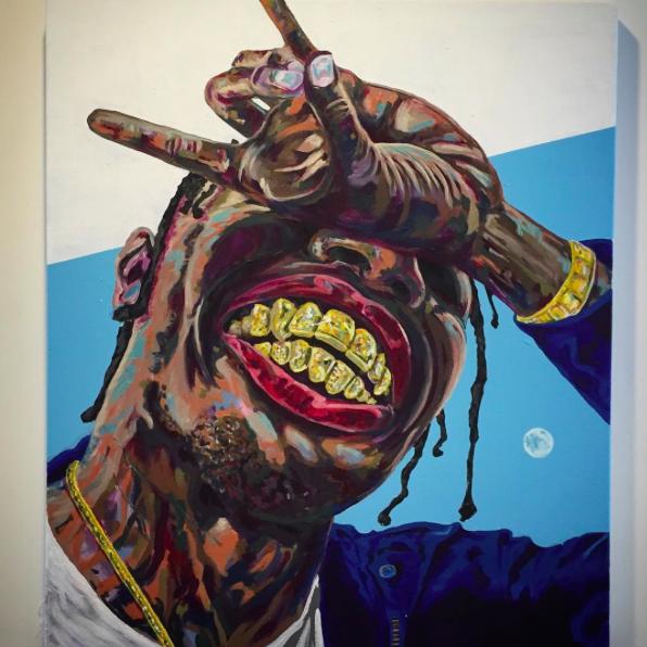 Travi Scott Art By Mike Robbins Travis Scott Art Hip Hop Art Hip Hop Illustration