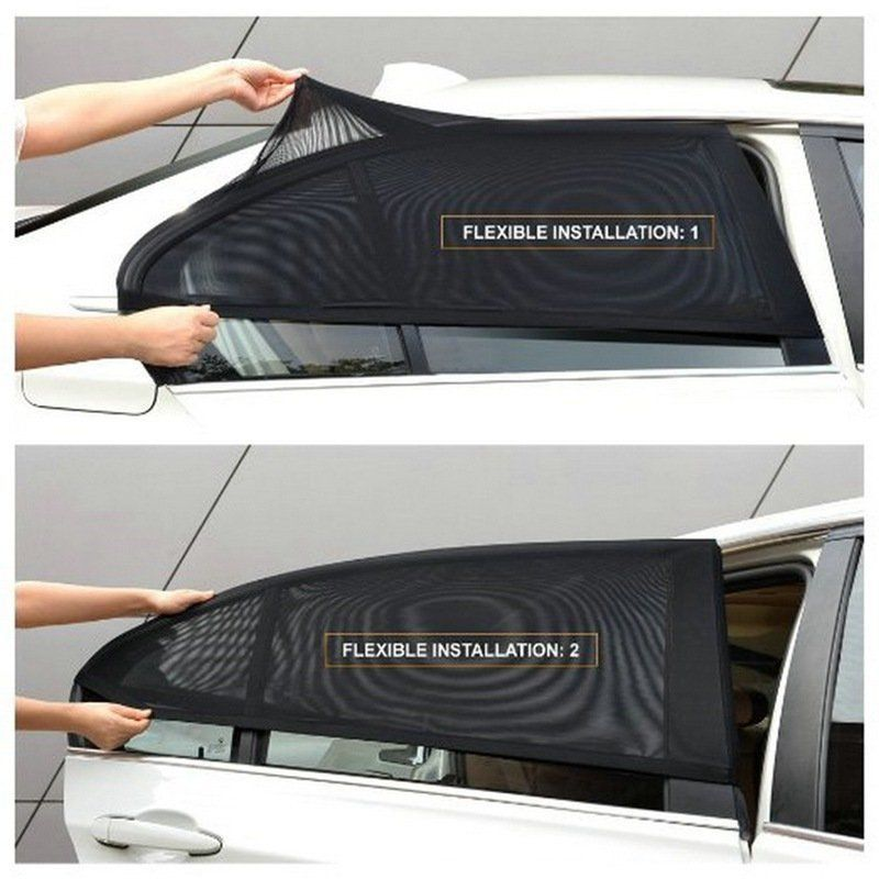 Details About 2x Car Rear Side Window Mesh Sun Visor Shade Cover