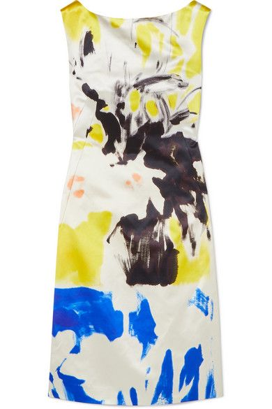 71ed70185d Dries Van Noten - Printed Cotton And Silk-blend Dress - Yellow in ...