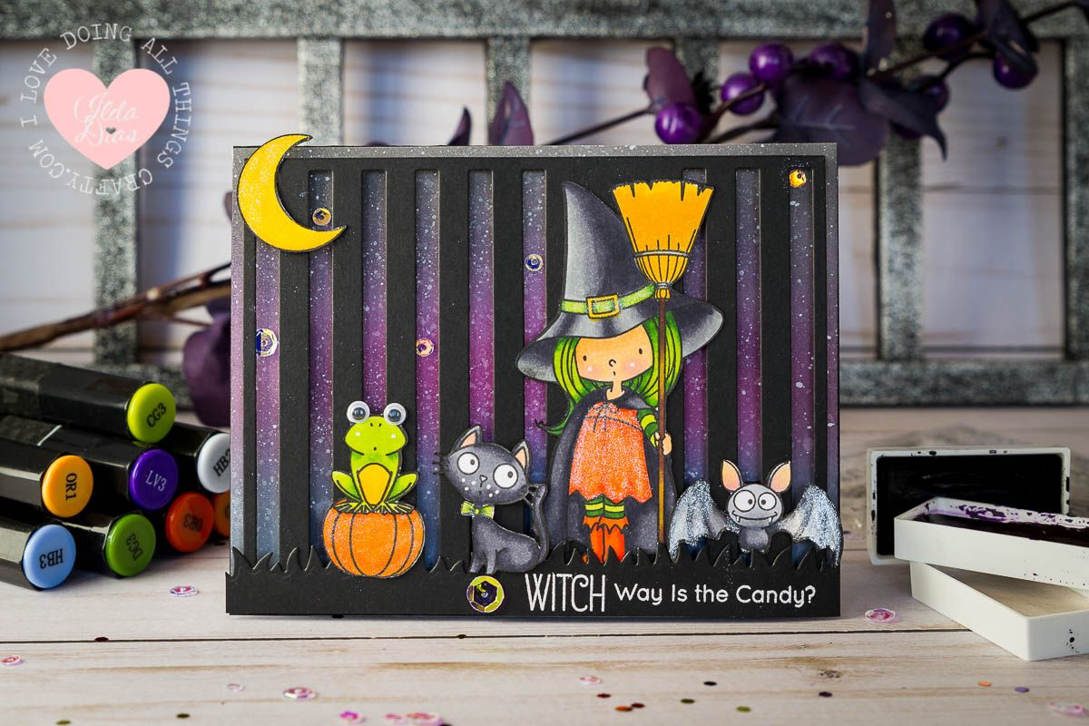 Witch Way is the Candy? Multi Slider Card A Halloween