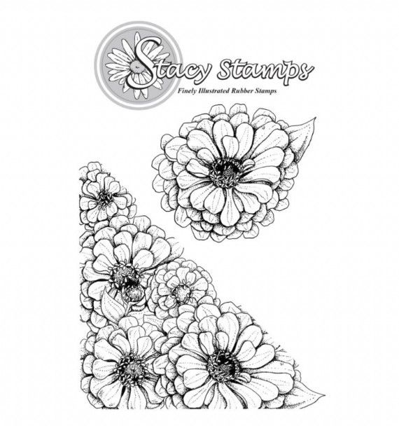 Stacy Stamps - Zinnias 1070AA