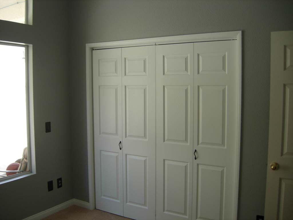 White Bifold Closet Doors We Replaced The Standard Sliding
