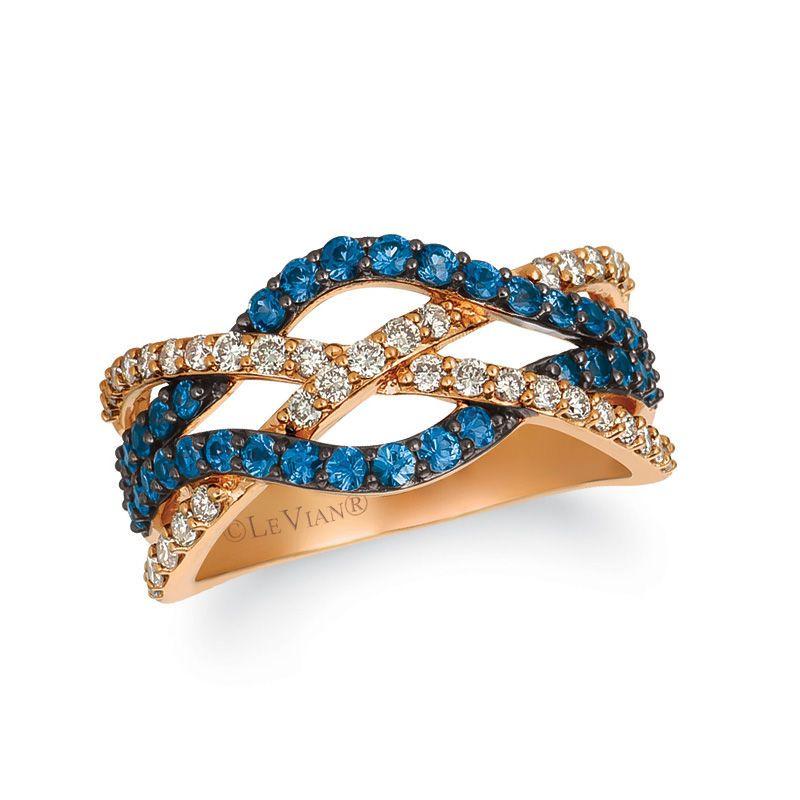 Le Vian® Blueberry Sapphire™ and Crème Brûlée Diamonds™ 0