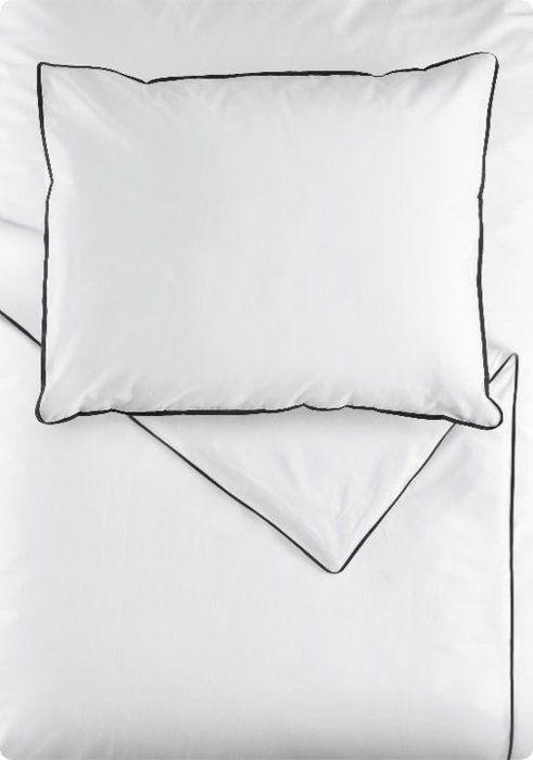 White Bedding Black Trim
