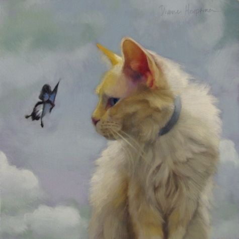 The Greeter, Why no Buy Now on that painting?, painting by artist Diane Hoeptner