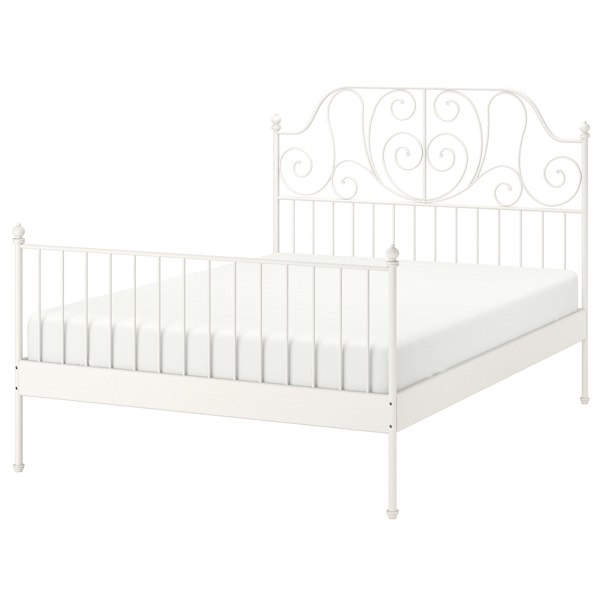 IKEA LEIRVIK White, Luröy Bed frame Leirvik bed, Bed
