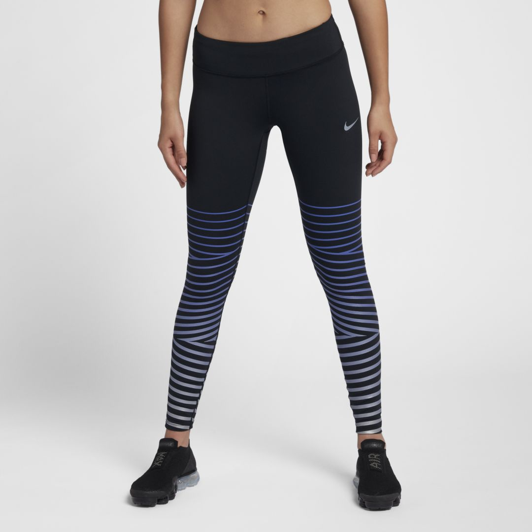 HOW COOL IS THIS: Reflective running tights!!! Nike Flash