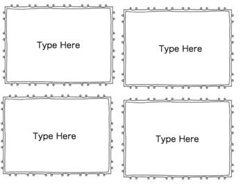 Flash Card Template  Cards Per Page  Asd Special Education