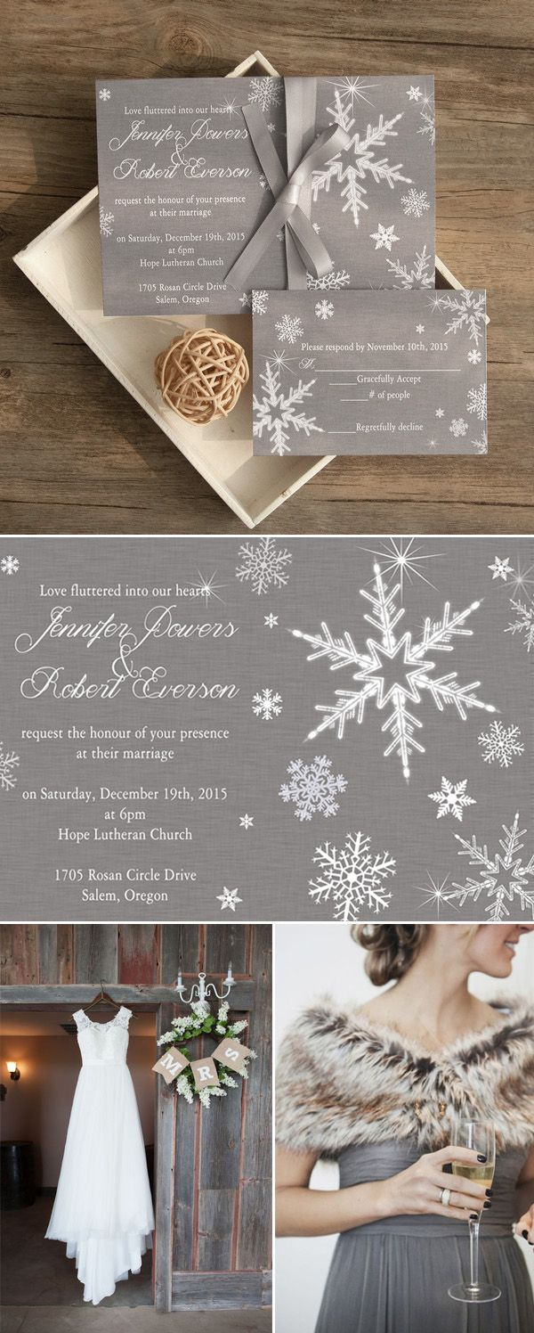 Wedding decorations at church november 2018 elegant grey winter wedding invitations EWI as low as  in