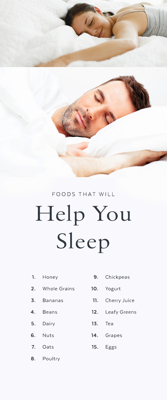 15 Foods That Will Put You to Sleep (and Keep You There