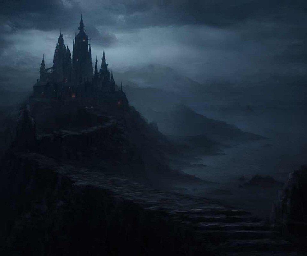 Pics For E Cartoon Dark Castle Background Armoniarelated Dark Castle Fantasy Landscape Fantasy Castle