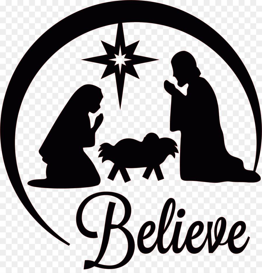Christmas Black And White In 2021 Christmas Nativity Scene Nativity Silhouette Nativity Of Jesus