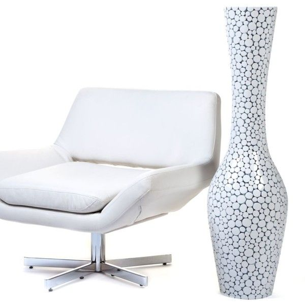 Oslo Floor Vase 45h White 180 Liked On Polyvore Featuring