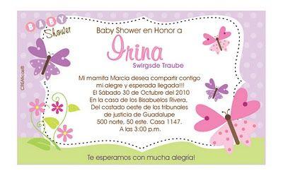 mensajes para invitaciones de baby shower ideas