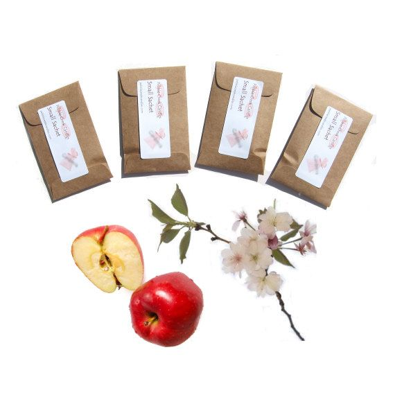 4 Bloomin Apple Blossom Mini Sachets Scented by pebblecreekcandles, #appleblossom